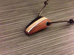 Exotic wood pendant by AlberoDiVita on Etsy, $35.00