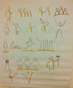 Exemples de personnages d'inspiration Bikablo.