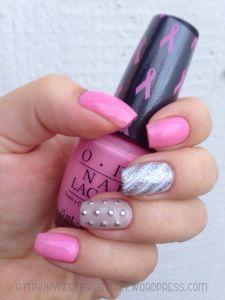 Studded pink mani