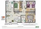 Plantas de apartamentos com 3 quartos | Decorando Casas