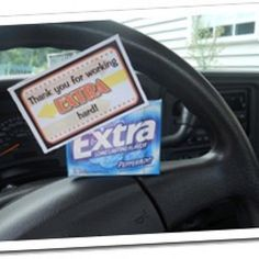Extra Gum Love Notes for Valentines or any day!
