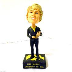 Coach Lisa Bluder University of Iowa Hawkeyes Basketball Bobble Head Doll #IowaWomensBasketball