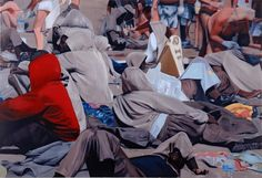 "Eberhard Havekost, ""Erscheinung"" Amelie, Schmidt, The Grim, Grim Reaper, Red Riding Hood, Ny Times, Hoods, Onesies, Paintings"