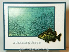 Man(l)y Thanks by Cards4Ever - Cards and Paper Crafts at Splitcoaststampers  (Jun'13) #fish, #masculine