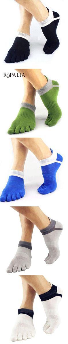 Solid Color Men's Cotton Socks Adults Finger Breathable Five Toe Socks Pure Sock