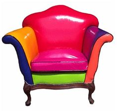 Living Color - Lollypop Collection by Le Tramac Funky Furniture, Unique Furniture, Painted Furniture, Furniture Design, Funky Chairs, Cool Chairs, Love Chair, Take A Seat, Upholstered Furniture