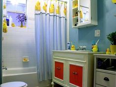 Colorful Kids Bathroom Ideas | Tags: kids bathroom ideas for girls, kids bathroom ideas for boys, kids bathroom ideas fish #bathroom