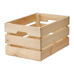 KNAGGLIG Box IKEA Perfect for storing larger things like gardening tools, as the crate is sturdy.