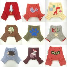 This custom slot is for one upcycled wool shorties diaper cover with an applique chosen from my photo gallery of previous designs. A custom order