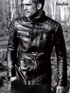 Burberry Brit moto leather jacket.
