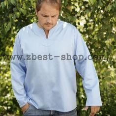 Голубая мужская рубашка Big Men, Athletic, Zip, Sweatshirts, Sweaters, Jackets, Shopping, Fashion, Down Jackets