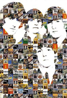 Beatles album mosaic