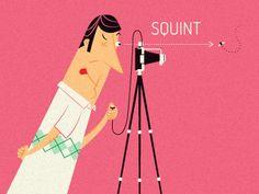 """Squint"" — Illustration by Nicholas Hendrickx (ukaaa)"