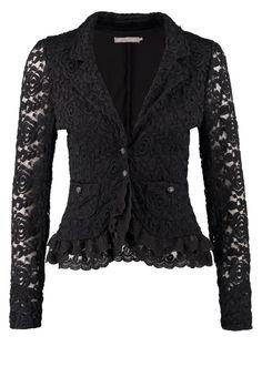 beautiful black lace blazer jacket <3
