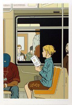 """""""#BuenosDías cuando encuentras a alguien leyendo el mismo libro que tu, es como si el libro te recomendara la persona"""""""