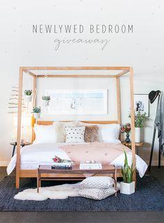 Newlywed Bedroom giveaway with Room & Board
