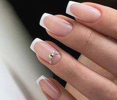 Маникюр | Ногти French Nails, French Manicure Nails, Nail Swag, Glitter Gradient Nails, Acrylic Nails, Bride Nails, Wedding Nails, Nail Tip Designs, Work Nails