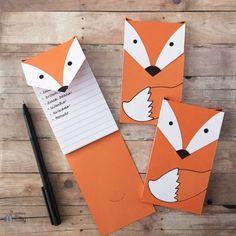 DIY Fox Notepads (Craft Gawker)