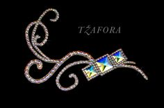 Ballroom heaband and ballroom jewelry made with Swarovski, available at www.tzafora.com © 2015 Tzafora. Handmade in Canada.