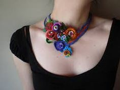 crochet necklaces on pinterest - Google Search