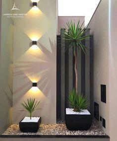 Home Room Design, Dream Home Design, Home Interior Design, Plant Wall Decor, House Plants Decor, Modern Exterior House Designs, Exterior Design, Backyard Patio Designs, Modern Backyard