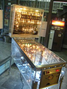 Nothing like a see though pinball machine to get a glimpse of how old EM (Electromechanical) games work.