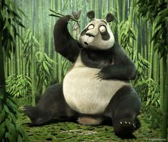 A Panda caught by surprise while snacking a fish in the middle of the bamboos - this was the briefing given to me by Artist magazine to support a tut. A break from Bamboo Art And Illustration, 3d Illustrations, Character Illustration, 3d Artist, Animal Wallpaper, Hd Wallpaper, Art Portfolio, Panda Bear, Big Panda