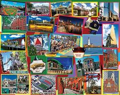 Boston Collage Jigsaw Puzzle - 1000 Pieces