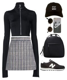 """""""Morpheus"""" by mikaylaperrine ❤ liked on Polyvore featuring Off-White, Miu Miu and New Balance"""
