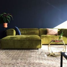 Love the green and navy..but need to rock better pillows and rug