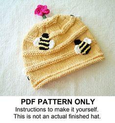 Tejer sombrero tejido patrón  sombrero por FiddlestyxStudios, $5.50