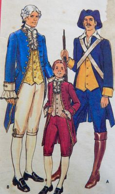 George Wasington costume sewing pattern from my Etsy shop https://www.etsy.com/listing/241886378/18th-century-military-statesmen