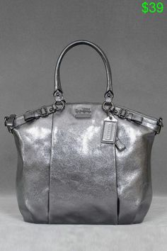 Coach Madison Metallic Leather Lindsey In Gunmetal - Beyond the Rack Coach  Purses Outlet ad6dd039502