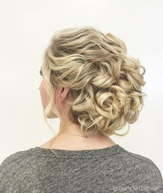 curly wedding updo - so beautiful! ~ we ? this! moncheribridals.com
