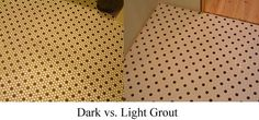 most people worry about what tile to pick out - it's really more about picking the right grout color!