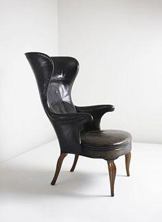 Frits Henningsen High wingback chair | c. 1930's