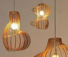 Love the organic shapes and curves of these pendant lights.