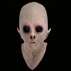 Amazon.com: Kingmys Alien UFO The Extra Terrestrial ET Latex Full Mask Party Toy/Prop: Toys & Games