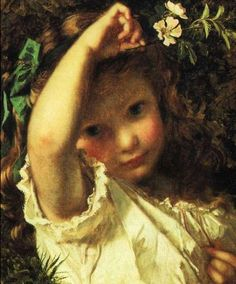 Sophie Gengembre Anderson, Peek A Boo!, Date unknown.  ソフィー・アンダーソン「いないいないばあ!」