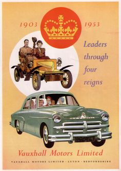 1953 Vauxhall Vauxhall Motors, Magazine Advert, Advertising Archives, Poster Ads, 60th Anniversary, National Treasure, Commercial Vehicle, Car Brands, British History