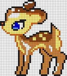 Cute_Bambi_Deer by Nicky on Kandi Patterns Hama Beads Design, Hama Beads Patterns, Loom Patterns, Beading Patterns, Embroidery Patterns, Diy Embroidery, Crochet Patterns, Loom Bands, Perler Bead Art