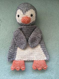 Knuffel lappen pinguïn voor Jade
