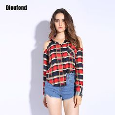 Dioufond Women Summer Blouses Short Sleeve Blouse Turn Down Collar ...
