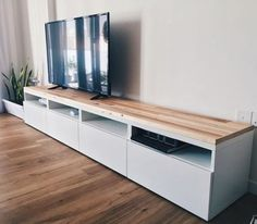 Ikea Besta TV console hack using