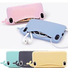 dsd® lovly cassa molle balena in silicone per iphone 4 / 4s (colori assortiti) - EUR € 5.75