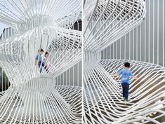 warren techentin architecture forms la cage aux folles in LA courtyard
