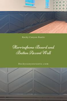 Make a huge impact in your space for very little money by adding wood strips to your wall to create a fun herringbone pattern. Wainscoting Panels, Wood Steps, Good To Great, Plywood Sheets, Feature Walls, Half Walls, Board And Batten, Wood Panel Walls, Herringbone Pattern