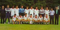 Brest 1988-89 Debout : Jambou (responsable centre de formation), le Hir (kiné), Kane, Le Guen, Barrabe, Pierre, Danielou, Sorin, Roch, Colleter, Maligorne (entraîneur), Muslin (directeur sportif). Accroupis : Guegan, Le Blan, Le Ny, Salaun, Cloarec, Bouquet, Coiffier.