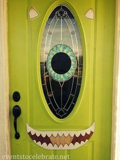 Front door decorations for halloween | Halloween Mike Wazowski Door Decoration
