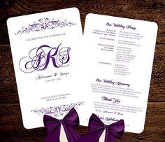 Blush Pink Printable Fan Program Template Wedding Fan Program - Wedding fan program template